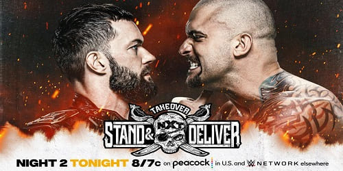 WWE NXT TakeOver Stand y Deliver Noche 2 Repeticion